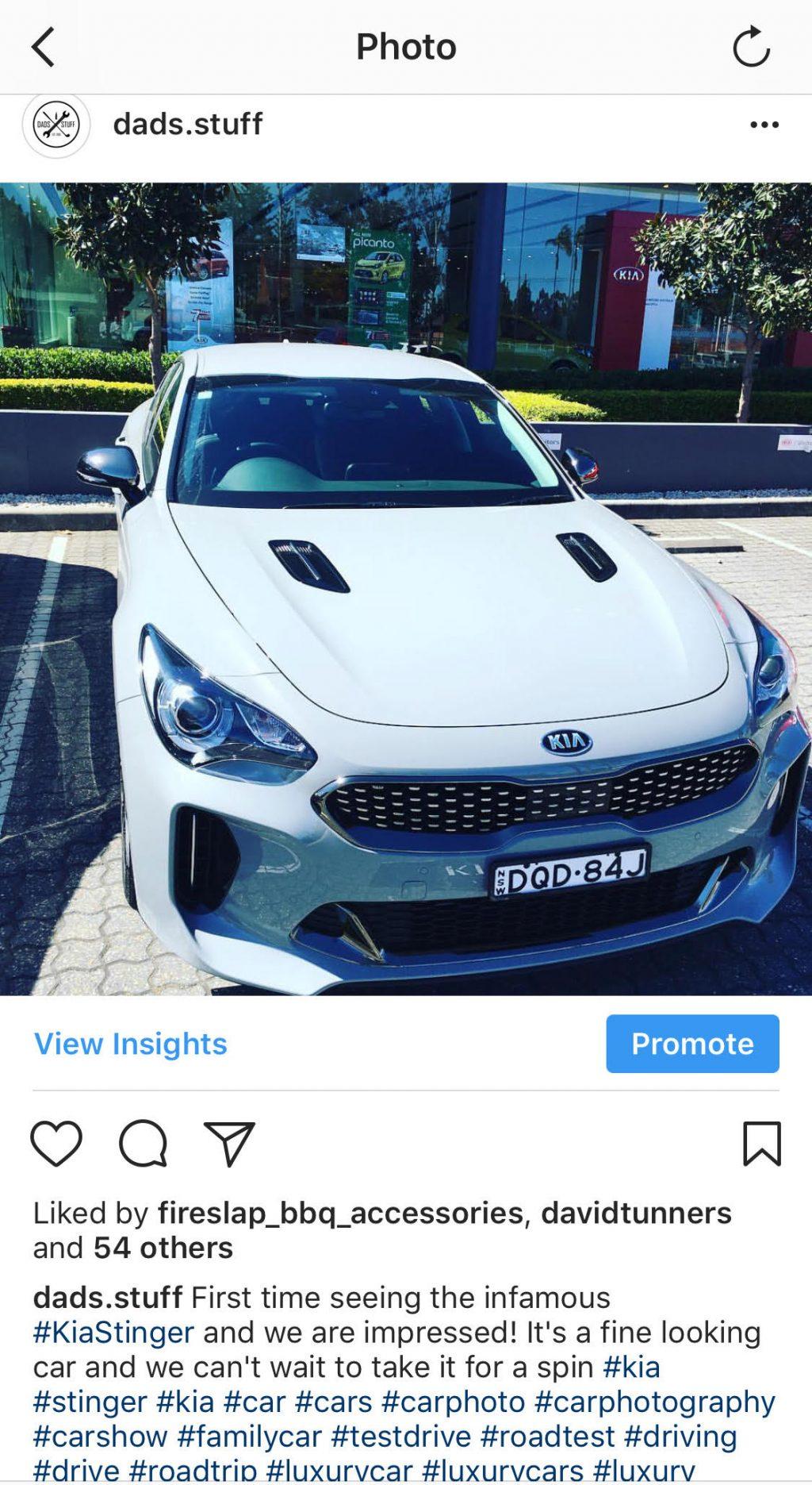 Kia Stinger Instagram